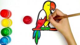 آموزش نقاشی به کودکان | این قسمت نقاشی طوطی