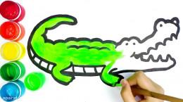 آموزش نقاشی به کودکان | این قسمت نقاشی سوسمار