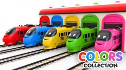 کارتون ماشین ها برای آموزش رنگ ها به کودکان مهد
