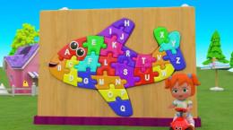 انیمیشن آموزش حیوانات و حروف abc با پازل هواپیما رنگی