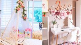 تزیین لاکچری دکور اتاق دخترانه با کمترین هزینه