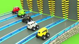 انیمیشن آموزنده اتومبیل های هیولا اسباب بازی به انگلیسی
