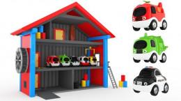 کارتون پارک کردن ماشین های اسباب بازی برای کودکان و خردسالان