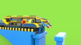 انیمیشن سرگرم کننده ماشین اسباب بازی و  پل مونتاژ برای پسربچه ها