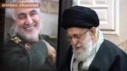 فیلم حضور رهبر انقلاب در منزل شهید سلیمانی