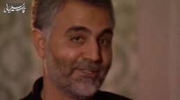 فیلم بی تابی سردار سلیمانی بر تابوت احمد کاظمی