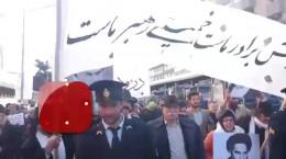 حضور نمادین گروهی از مردم سال ۵۷ در راهپیمایی ۲۲ بهمن
