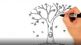 کلیپ نقاشی پاییز کودکانه