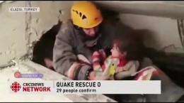 سالم ماندن دختر ۵ ساله زیر آور زلزله ترکیه