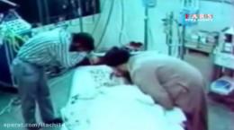 فیلم درگذشت امام خمینی در بیمارستان و وداع باشکوه مردم