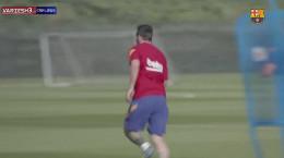 بازگشت لیونل مسی به تمرینات بارسلونا
