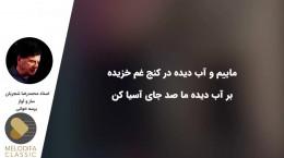 ساز و آواز پرسه خوانی محمدرضا شجریان
