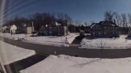 تایم لپس ذوب شدن برف در طی 45 روز