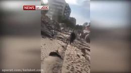 ویدیو لحظه زلزله 6.6 ریشتری در ازمیر ترکیه