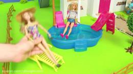 عروسک باربی بازی کردن -  آشپزخانه ، حمام و اتاق خواب