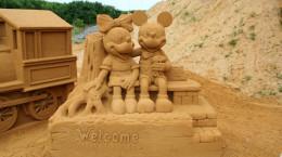 جشنواره مجسمه های شنی دیزنی لند در بلژیک/ Disneyland