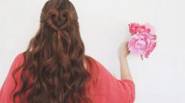 آموزش بستن موی بلند به شکل قلبی