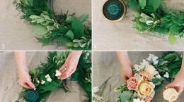 آموزش تصویری درست کردن حلقه گل عروسی
