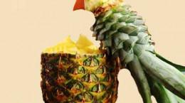 تزیین زیبای آناناس مدل طوطی
