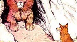 قصه زیبای شیر بدجنس و روباه باهوش