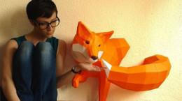 حیوانات 3بعدی کاغذی ..!!