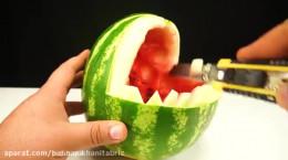 10 ترفند بسیار ساده برای تزیین هندوانه شب یلدا