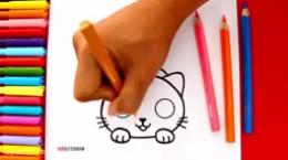 آموزش نقاشی به کودکان | این قسمت نقاشی بچه گربه
