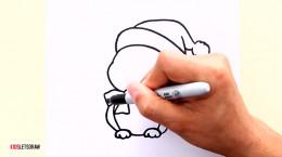 آموزش نقاشی به کودکان | این قسمت نقاشی پنگوئن بامزه برای کریسمس