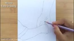 آموزش نقاشی به کودکان | این قسمت نقاشی روز پدر | دست پدر و فرزند
