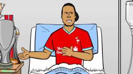 کارتون طنز بیمارستان لیورپول پیش از بازی با رئال مادرید !
