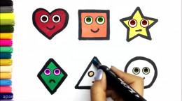 آموزش نقاشی به کودکان   این قسمت نقاشی اشکال هندسی
