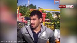 دستفروشی محسن مدهنی قهرمان کشتی جهان