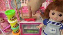 خمیر بازی دخترانه و ساخت غذا با خمیر بازی