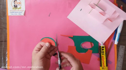 آموزش کاردستی شب یلدا با کاغذ رنگی