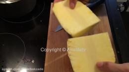 آموزش پوست کندن آناناس با چاقو