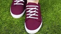 بستن بند کفش های اسپرت دخترانه