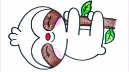 آموزش نقاشی حیوانات ساده برای کودکان - خرس تنبل ۲۰۲۱