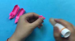 درست کردن کفش پاشنه بلند زنونه با کاغذ رنگی