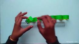 درست کردن کاردستی هزارپا با کاغذ رنگی
