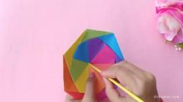 درست کردن کاردستی چتر اسباب بازی با کاغذ رنگی