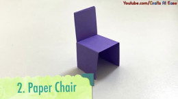 درست کردن کاردستی میز و صندلی با کاغذ رنگی