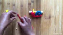 آموزش درست کردن حلزون با خمیر بازی