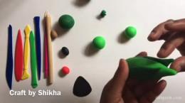 آموزش درست کردن طوطی با خمیر بازی