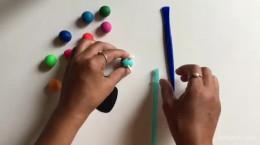 آموزش ساخت هزارپا با خمیر بازی