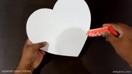 آموزش ساخت جعبه کادویی به شکل قلب با مقوا