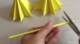 آموزش ساخت چتر کاغذی