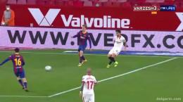 خلاصه بازی بین تیم های سویا ۲ - بارسلونا ۰