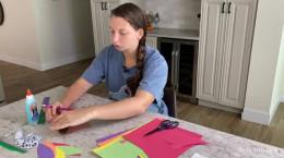 آموزش ساخت بوقلمون با کاغذ رنگی