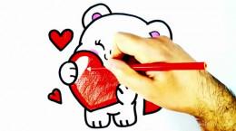 آموزش کشیدن نقاشی بچه خرس کوچولو