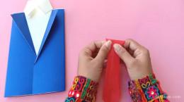آموزش کارت پستال دست ساز روز پدر